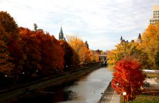 A beautiful view of the Parliament Hill area in Ottawa in Autumn