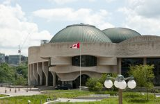 Ottawa, Canada - May 26, 2015: The Canadian Museum of History (formerly the Canadian Museum of Civilization) is a modern building designed by Douglas Cardinal